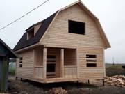 Дома из бруса сруб Эмиль 6 × 8,  доставка-установка Любань